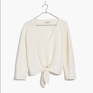 MADEWELL Texture & Thread Tie-Knot Top NWT 2X